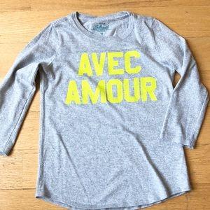 🎉2xHP🎉J. Crew (Crewcuts) 'Avec Amour' shirt